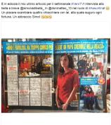 In edicola la mia ultima intervista per Vero TV a Simona Di Bella!