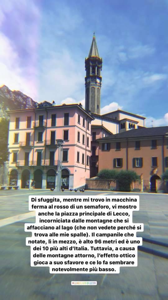 Ecco il Campanile della Basilica di San Nicolò, in pieno centro a Lecco. Si tratta di uno dei Campanili più alti d'Italia. Ve ne parlo meglio qui sotto